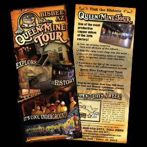 Queen Mine Tours brochure