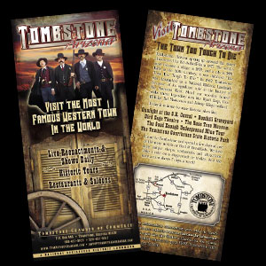 City of Tombstone Rack Card