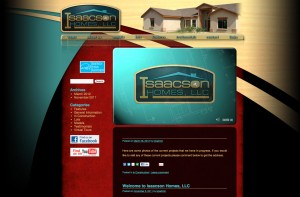 Isaacson Homes website